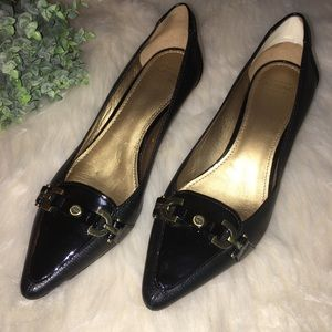 Circa JOAN & DAVID Sz 9 1/2 Black Kitten Heel Pump